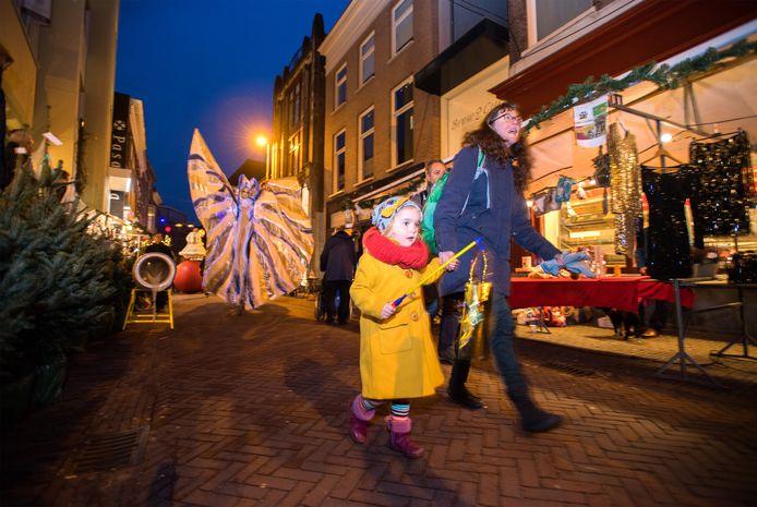 Een Straatact tijdens een vorige versie van de kerstmarkt van Arnhem.
