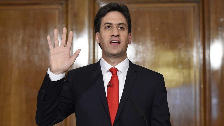 Ed Miliband op 8 mei 2015. Beeld anp