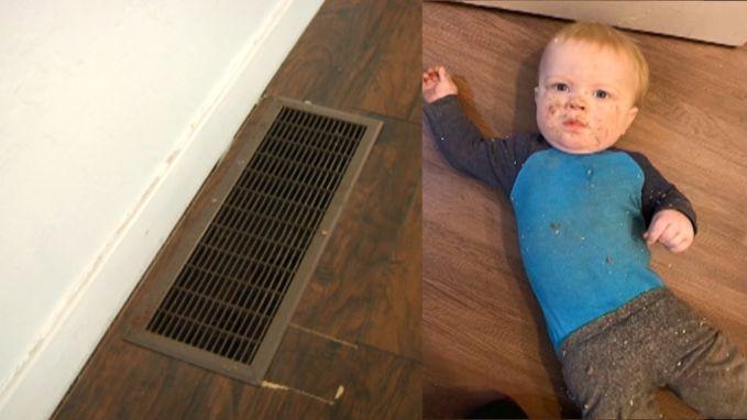Peuter valt zo'n 2,5 meter naar beneden door ventilatieschacht
