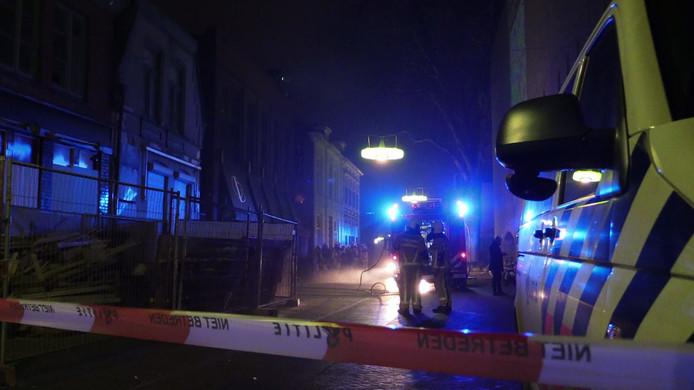 De brandweer rukte flink uit vannacht in het centrum van Enschede