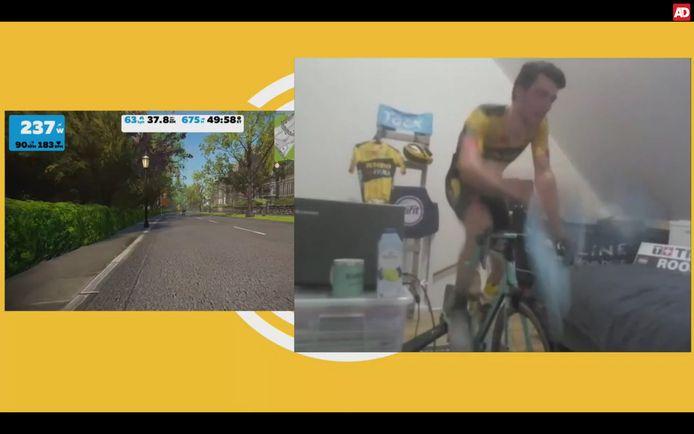 In het wiel Zwift Race