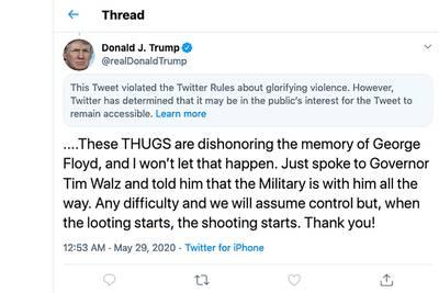 La Maison Blanche relaie le message de Trump signalé par Twitter: l'escalade se poursuit