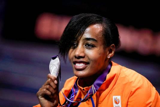 Hassan na haar winst van een zilveren medaille op de 3000 meter bij de WK in door in 2018.
