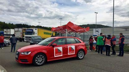 Socialistische vakbond blokkeert distributiecentrum van Lidl in Genk