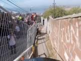 Bizar: deze mountainbike wedstrijd gaat dwars door Chileense stad