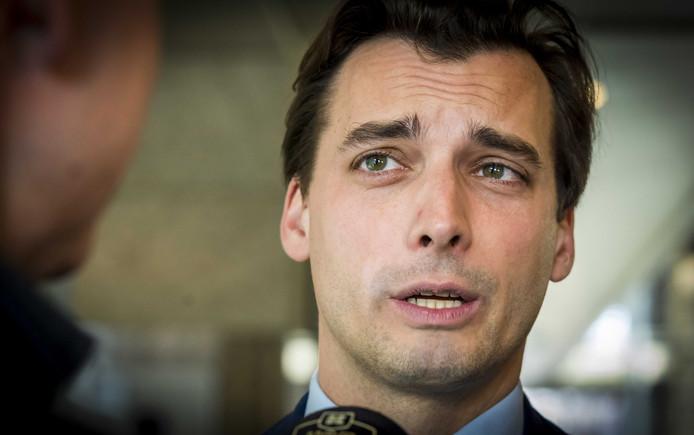 2019-03-26 15:01:03 DEN HAAG - Thierry Baudet tijdens het wekelijkse vragenuur in de Tweede Kamer. ANP LEX VAN LIESHOUT