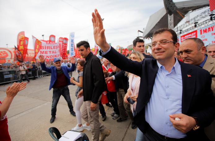 De tegenstander van Erdogan, Ekrem Imamoglu.