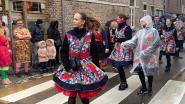 Deelnemers carnavalsstoet trotseren de regen