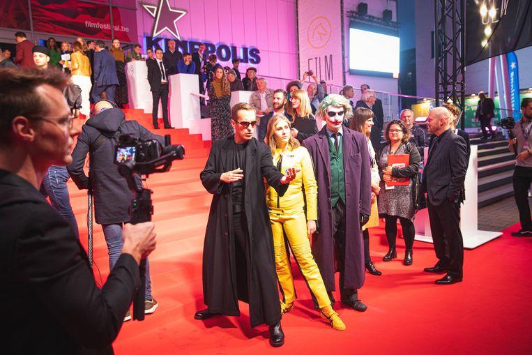 Sam 'Neo' De Bruyne, Inge 'The Bride De Vogelaere en Wim 'The Joker' Oosterlinck.