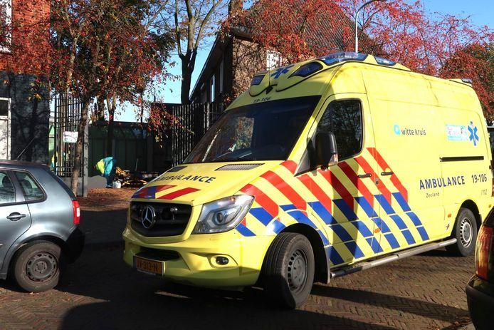 Een medewerker van een schoonmaakbedrijf is in de Bredase Verlaatstraat van een ladder gevallen.