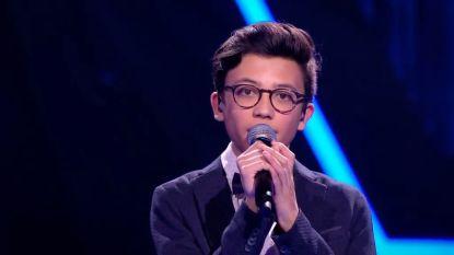 """'The Voice Kids'-favoriet Justin gaat niet zweven: """"Zelf ben ik niet zo zeker over mijn stem"""""""