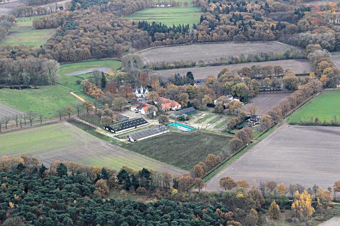 Landgoed de Baronie van Cranendonck met Kasteeltje Cranendonck als middelpunt.
