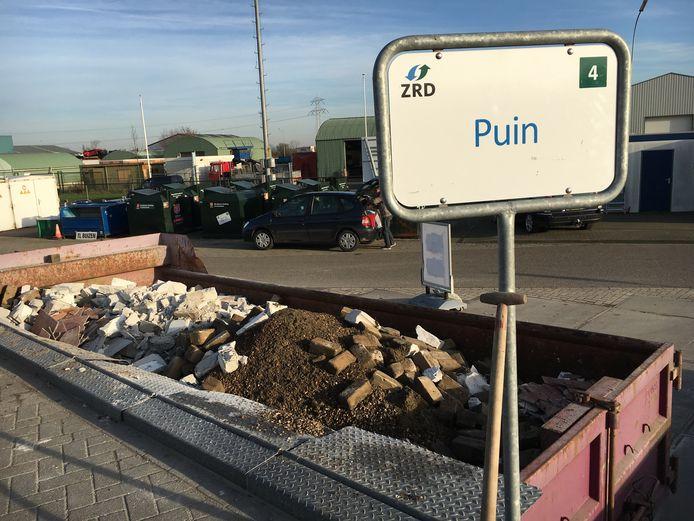 De milieustraat van de Zeeuwse Reinigingsdienst.