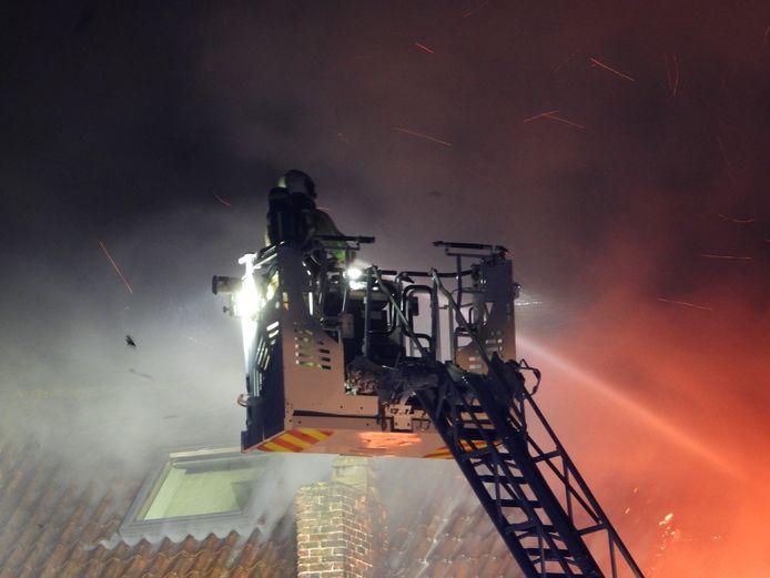 De brand in de Schuttersstraat in Brugge.
