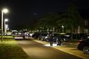 De technische recherche van de politie doet onderzoek in de Van Disselstraat in Zwolle.