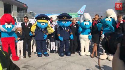 Brussels Airlines stuurt smurfen de lucht in