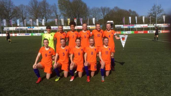 Het jongste damesteam van Oranje.