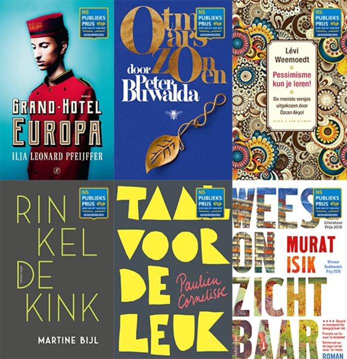 De genomineerde boeken.