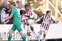 Vreugde bij Willem II na een treffer.