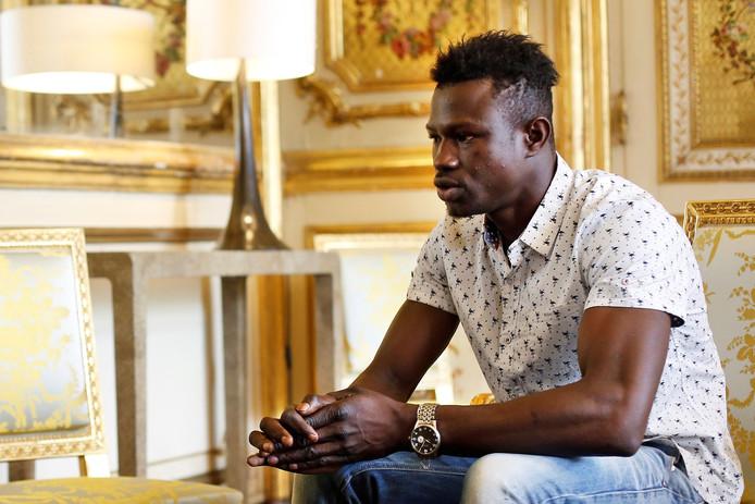 Mamoudou Gassama in het Elysée.