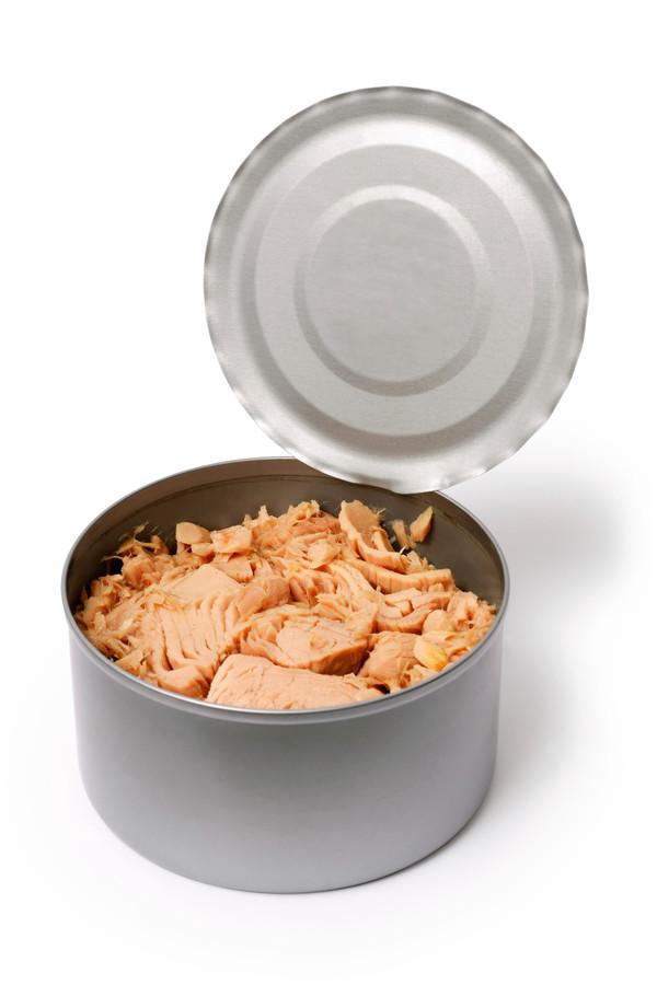 Open can of tuna - Open blikje tonijn broodje brood smos
