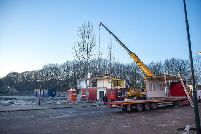 De tijdelijk school 't Zandoogje die opgebouwd was aan het Vlinderlaan in Oosterhout is weer afgebroken.