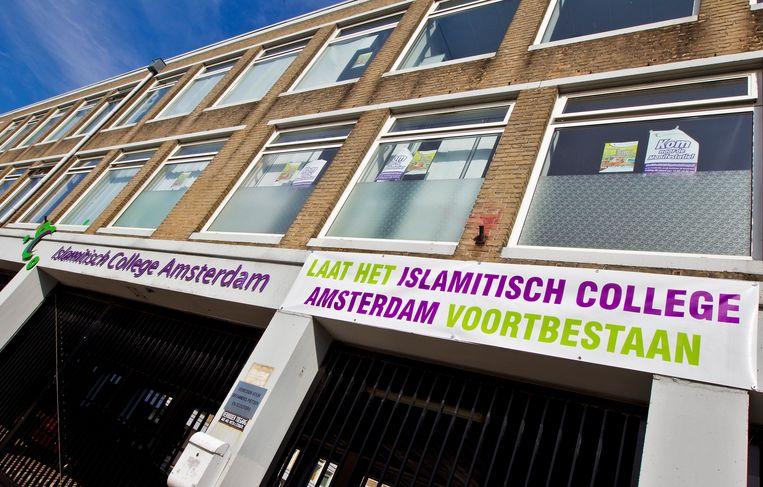 Het met sluiting bedreigde Islamitisch College Amsterdam in 2010. Beeld ANP