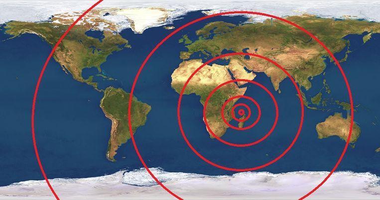 De vreemde golven rolden van het eiland Mayotte naar Canada, Chili en zelfs Nieuw-Zeeland.