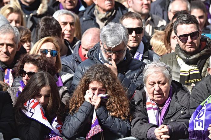 Emotionele supporters van Fiorentina.