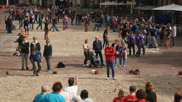 Beeld van de 27ste editie van het Bacchus Jeu-de-boules toernooi in Deventer.