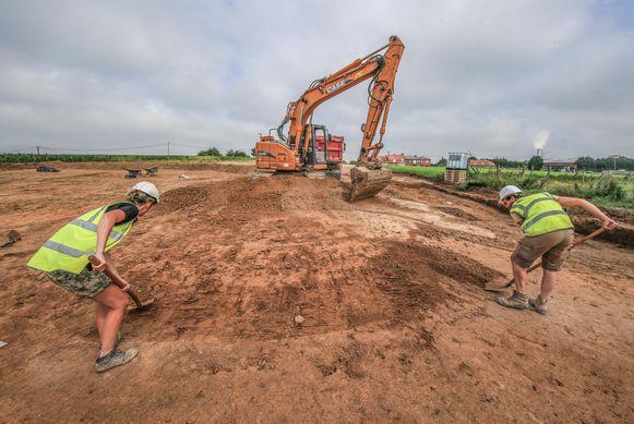 Het ontgraven van een Romeinse villa kost heel wat werk.