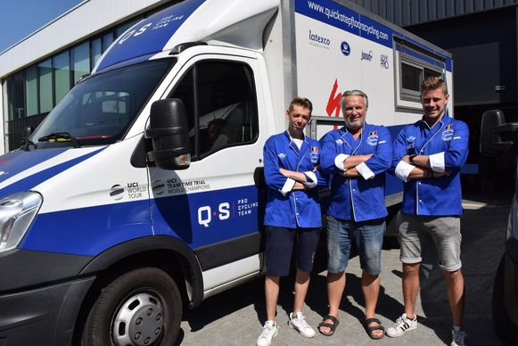 V.l.n.r.: sous-chef Jelle Eggers, CEO van Kookeiland Gino Laureyssen en chef-kok Kevin Daems.