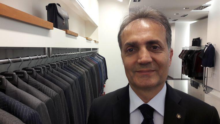 Ibrahim Hakki Erdem, eigenaar van confectiebedrijf Narmanli. Beeld Rob Vreeken