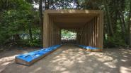 Kiosk aan oude begraafplaats domein Franciscanessen geeft overzicht van bosbeheerwerken