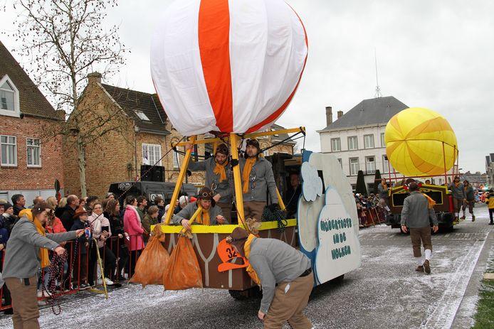 De Hubertboys waren letterlijk in de wolken met een prachtige wagen en stuntwerk