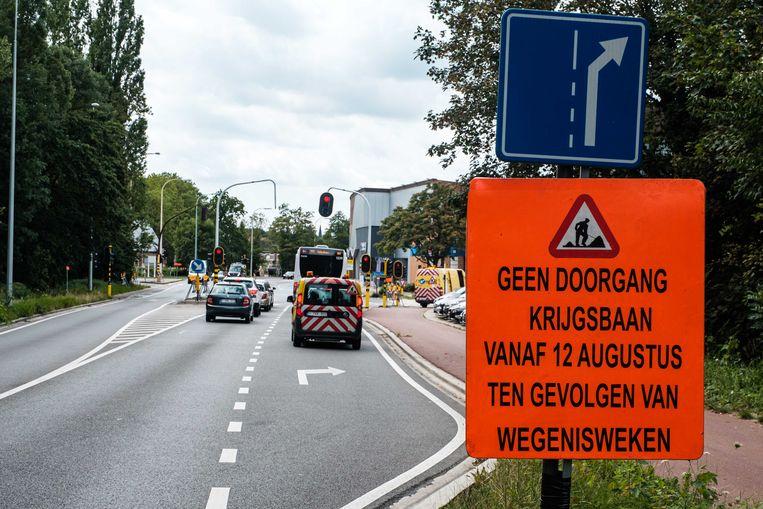 De werken aan de Krijgsbaan starten maandag.