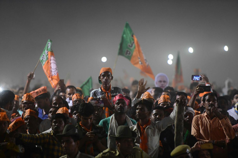 Speech van premier Modi tijdens zijn campagne.