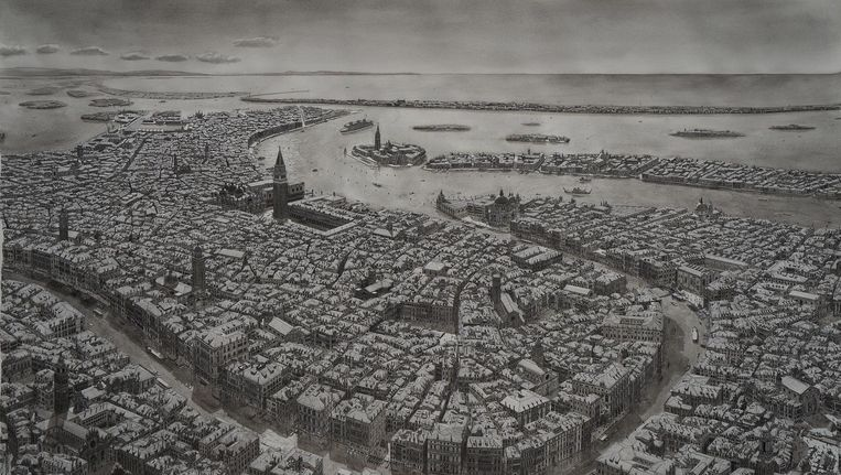 Venetië, 74 x 115 centimeter, vervaardigd in 2016. Beeld Stefan Bleekrode