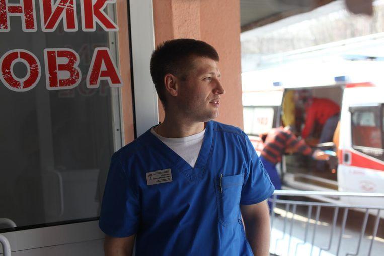 Alexey Goreglyad, traumatoloog. Mechnikova ziekenhuis. Dnipro, Oekraïne Beeld Oleksandr Techynskyi