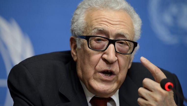 De speciale VN-gezant voor Syrië, Lakhdar Brahimi. Beeld epa