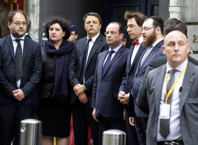 Ricardo Pacifici (links) bezocht ons land in mei vorig jaar, toen hij eer kwam betonen aan de slachtoffers van de aanslag in het Joods Museum.