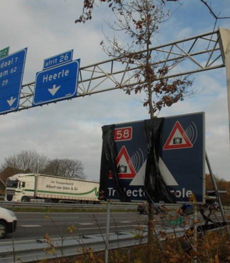 Trajectcontrole A58: ruim 22.000 boetes in 4 maanden