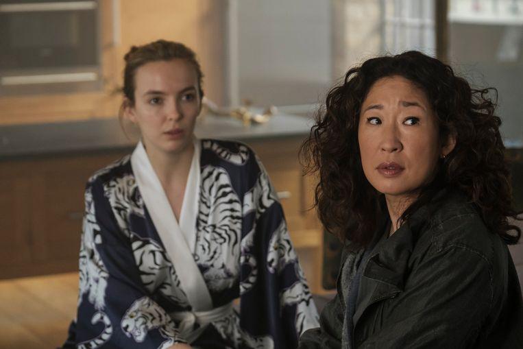Jodie Comer en Sandra Oh in 'Killing Eve'