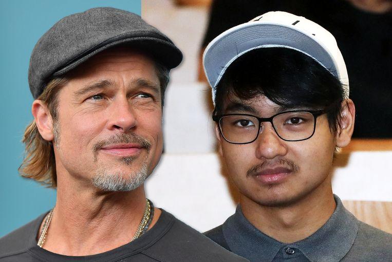 Maddox en Brad Pitt