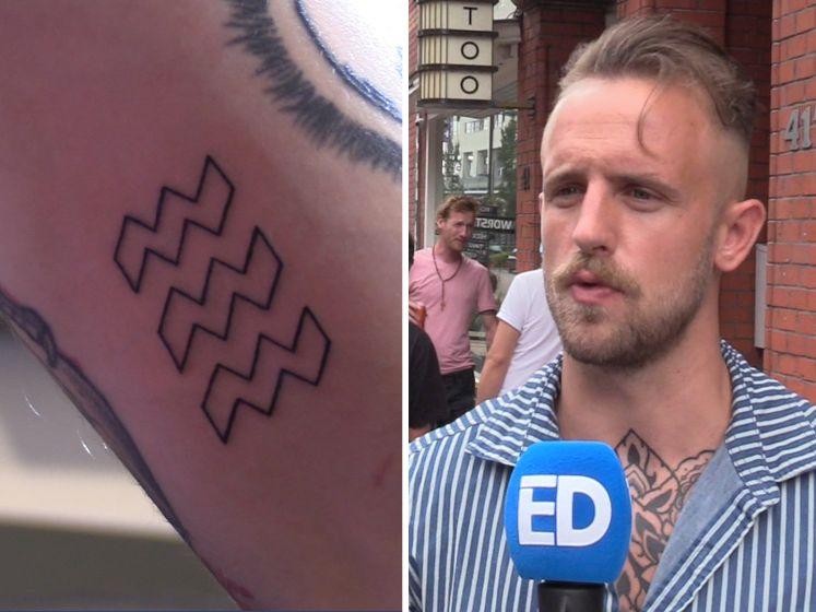 Eindhovenaar kampeert nacht op straat voor gratis tattoo van de stad