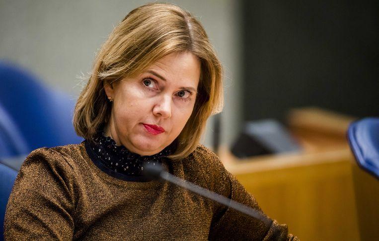 Minister Cora van Nieuwenhuizen van Infrastructuur en Waterstaat. Beeld ANP