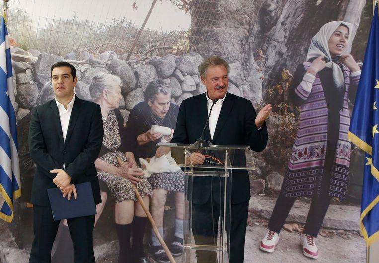 Luxemburgse minister van buitenlandse zaken Jean Asselborn op het vliegveld in Athene Beeld epa