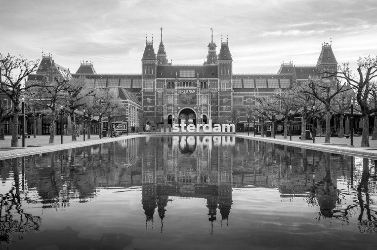 Ga vrijdag naar de Amstelkerk voor de fototentoonstelling Het is stil op straat. Beeld Hugo Lingeman