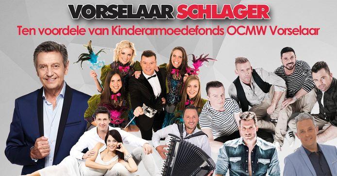 Vorselaar Schlager brengt tal van Vlaamse topartiesten naar zaal De Dreef.