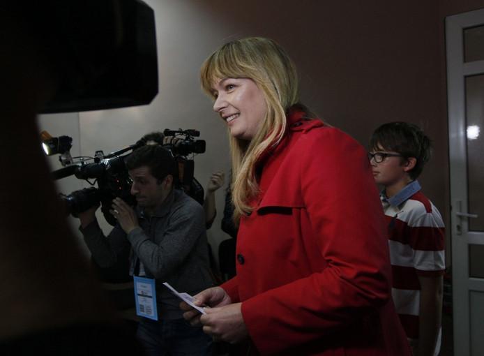 Sandra Roelofs bracht zaterdag zelf ook haar stem uit in Tbilisi in Georgië.